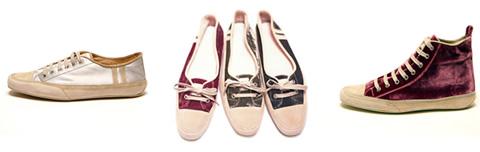 Sneakers di velluto da Emma Hope