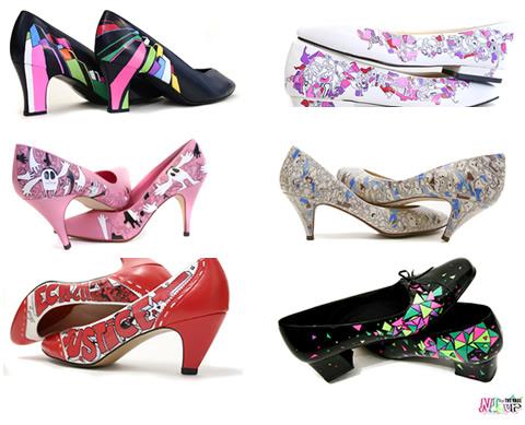 Ndeur: scarpa col tacco stile Ed Banger