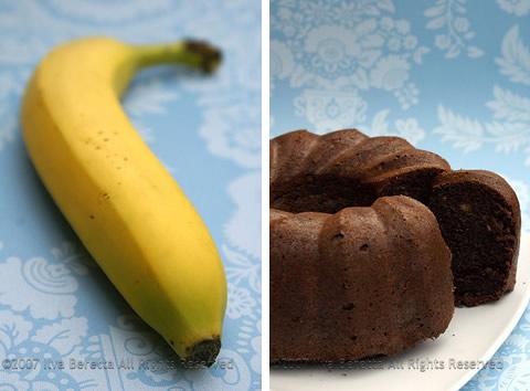 Torta di banana al cioccolato senza glutine