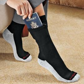 Zip It Passport Socks