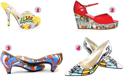 Scarpe illustrate, scarpe a fumetti