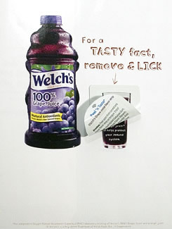 Welch's: remove & lick