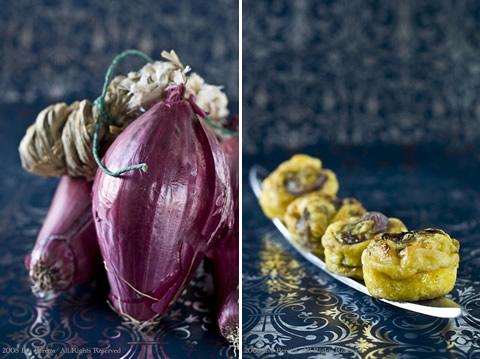 Frittatine di cipolle con timo e aceto balsamico
