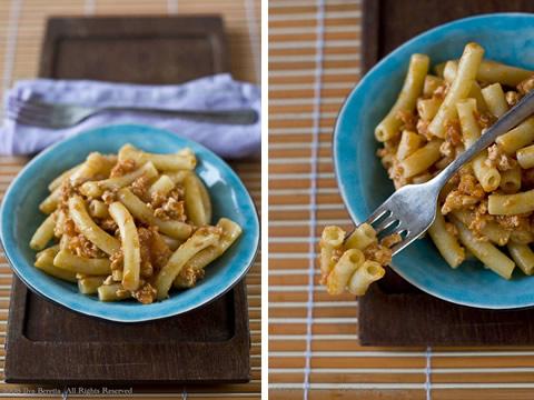 Pasta con ragù cremoso di tacchino
