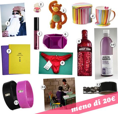 Gift-list di Natale: regali a meno di 20€