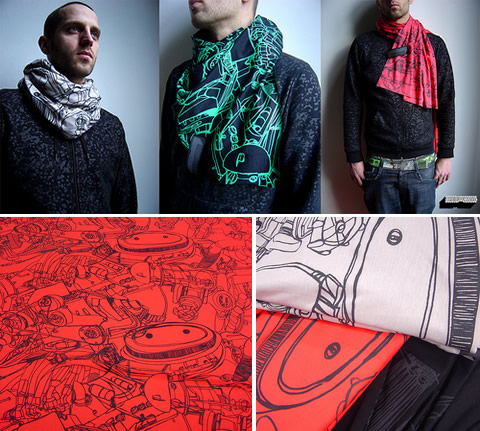 Zward: sciarpe illustrate