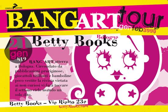 Bang Art Tour @ Betty&Books, Bologna