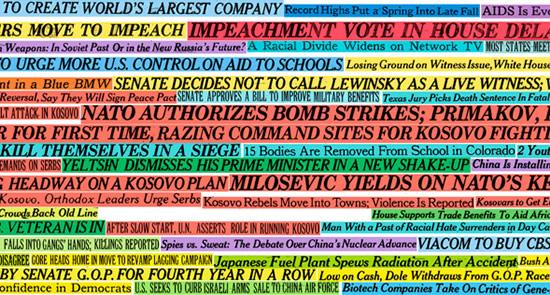 15 anni di New York Times sulle pareti di casa tua