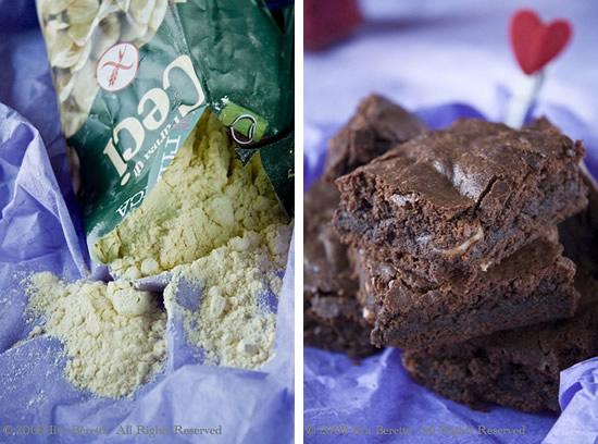 Brownies al cioccolato con farina di ceci e nocciole, senza glutine