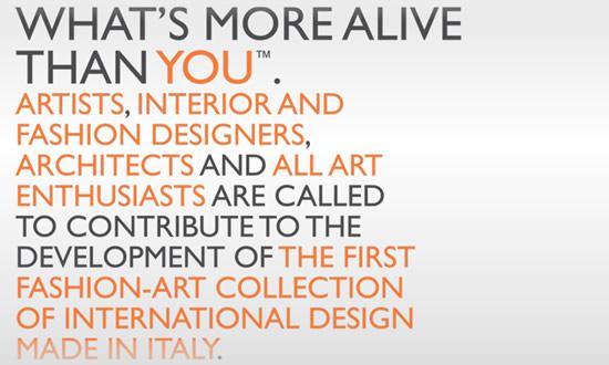 What's more alive than you: opportunità per fashion designers