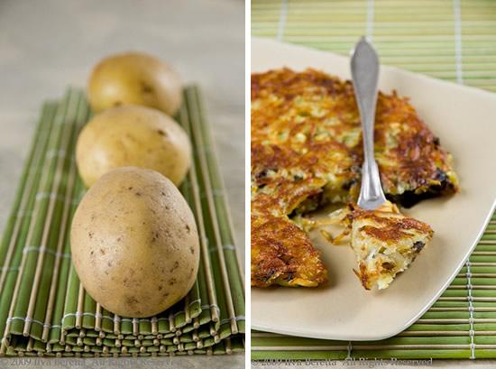 Torta di patate con melanzane ed erba