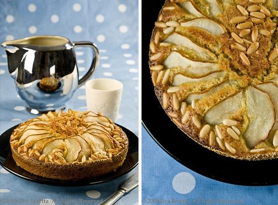 Torta di pere e pinoli, con farina d'avena