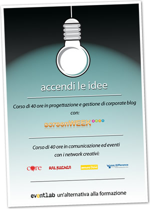 Eventlab: progettare e gestire un corporate blog / eventi e network culturali
