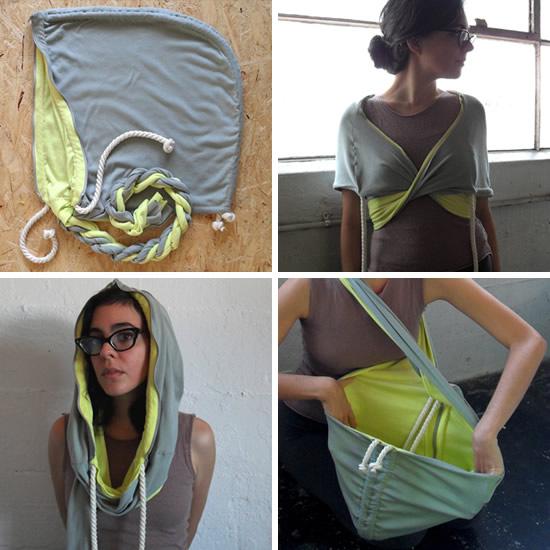 Hoodie Bag by Stephanie Simek