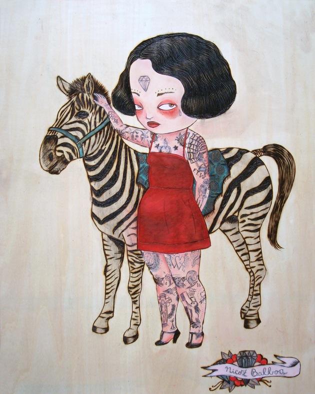 illustrated girl