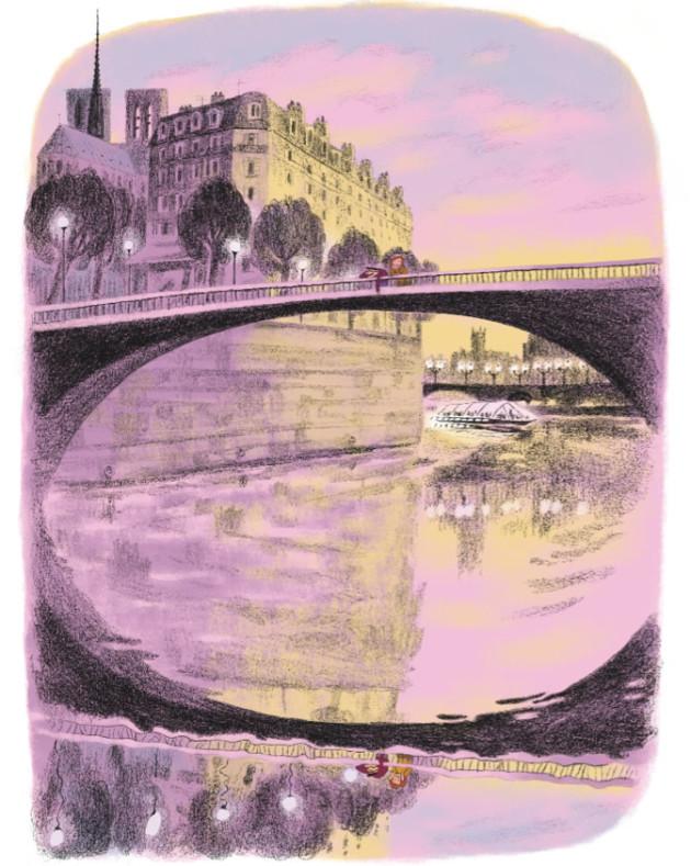 Anne Rouquette - 'Bons baisers ratés de Paris' di Davide Cali e Anne Rouquette, Editons Gulf Stream