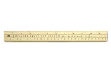 best made brass ruler