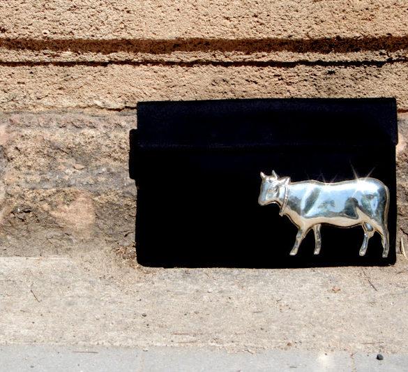 vincent silver cow bag 1