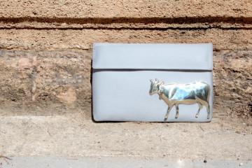 vincent silver cow bag 2