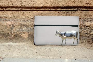 vincent silver cow bag 3