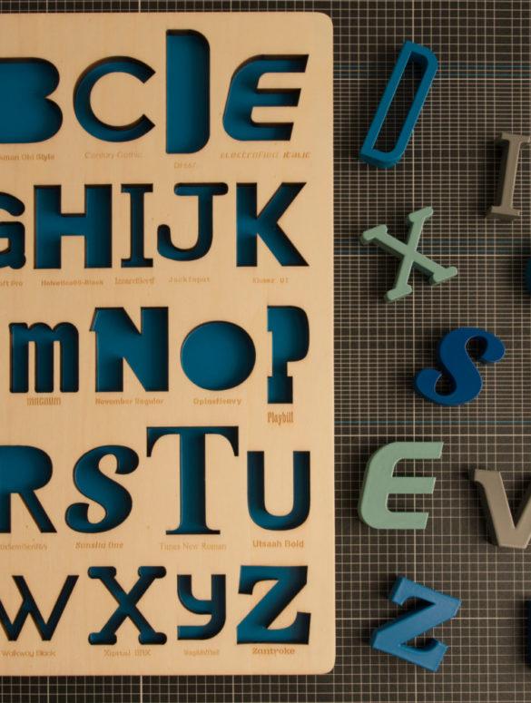 font alphabet puzzle 1