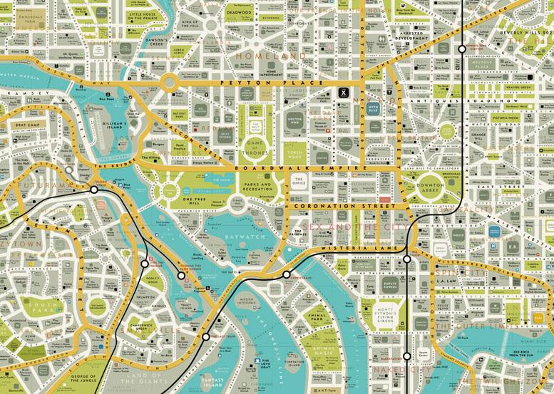 Cartina Stradale Londra.Le Mappe Immaginarie Di Dorothy Rivoluzionano La Topografia Di Londra E Washington D C Frizzifrizzi