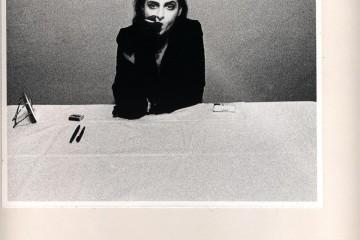 Urs Luthi You are not the only one whos lonely 1974 stampa fotografica e interventi su carta CAMeC Collezione Cozzani La Spezia