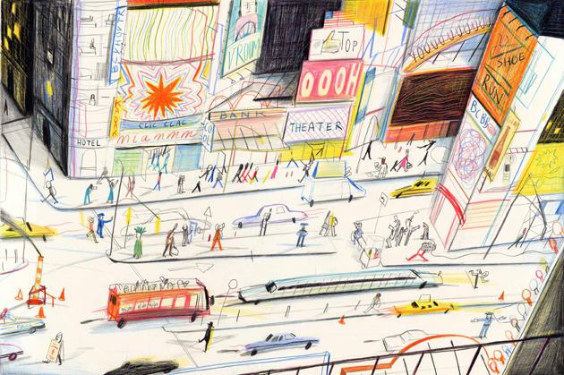 Tavola da Américanin. Copyright Yann Kebbi/ Editions Michel Lagarde.