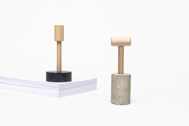 Pinco Panco | designer: Giorgia Zanellato | materiali: marmo e legno / pietra grigia e legno