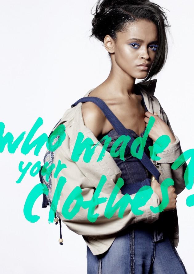 photographer: Keiron O' Connor | model: Portia @ Storm | corset and jacket: Katharine Hammet | jeans: Komodo | bag: Maitri | stylist: Stevie Westgarth | make-up: Jo Frost | hair: Eliot Bsilla