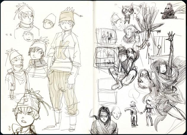 studio per il personaggio di Kite