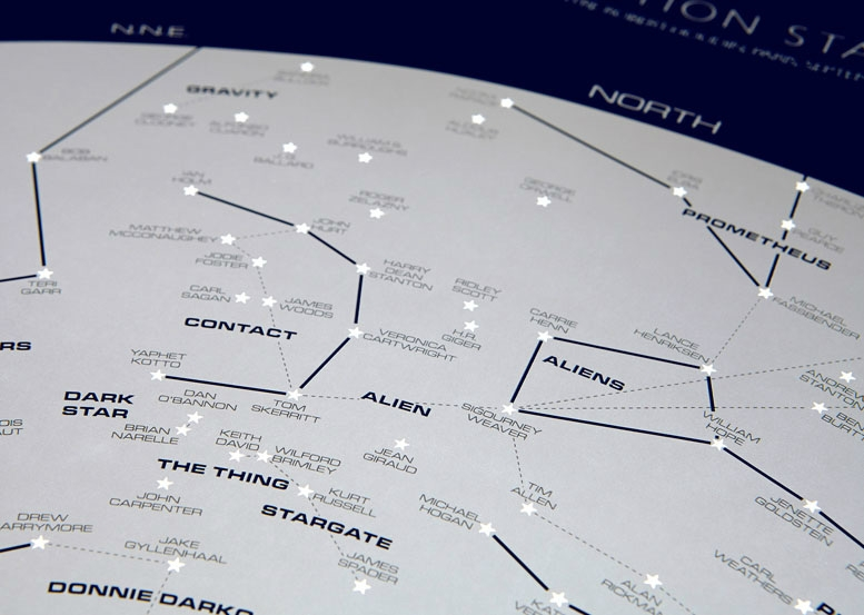 Dorothy 0054B SciFi Star Chart Open Edition D