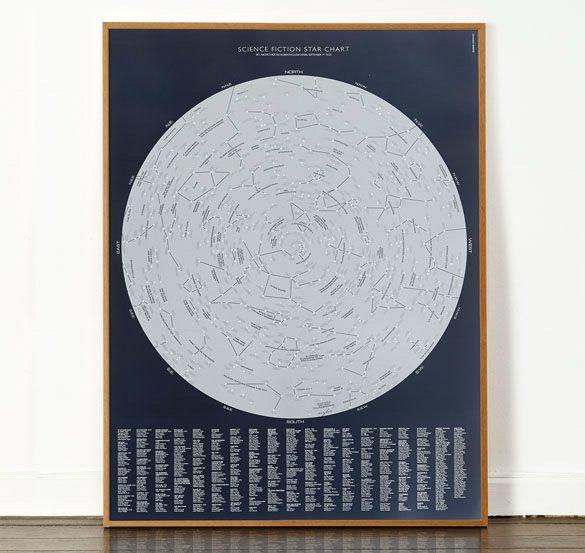Dorothy 0054B SciFi Star Chart Open Edition Frame