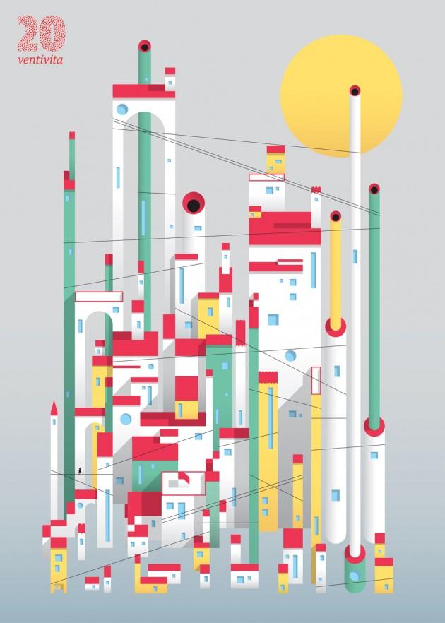 in anteprima per Frizzifrizzi l'ultimo manifesto VentiVita (luglio 2014), realizzato da Francesco Muzzi | courtesy Matteo Riva