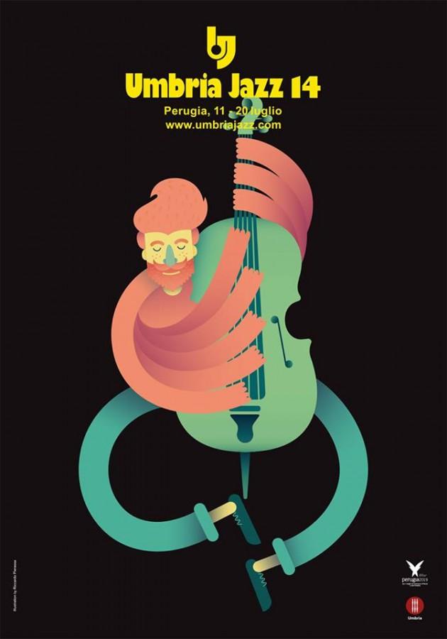 la locandina ufficiale di Umbria Jazz 2014 è dell'illustratore Riccardo Pierassa