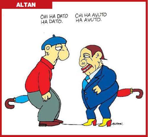 una delle tante vignette di Altan, col famoso ombrello