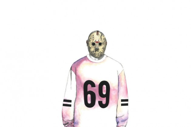 Jason Voorhees wearing Hood By Air Fall 2014 Menswear Collection