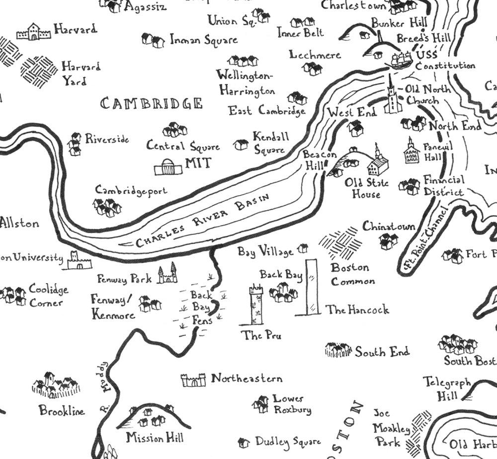 mappa di Boston (dettaglio)