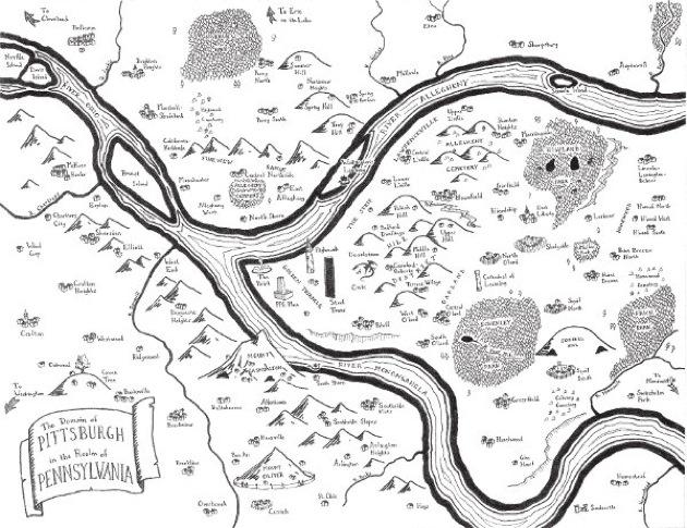 mappa di Pittsburgh