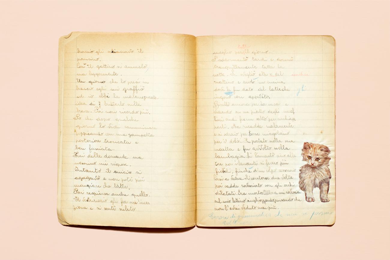 Quaderno delle cronache di Mariolina Margiotti, l'autrice di quaderni preferita da Thomas, 1944