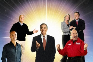 da sinistra: Robin Sharma, Jack Canfield, Brian Tracy, Kim e Robert Kiyosaki, Jeffrey Gitomer (elaborazione grafica)