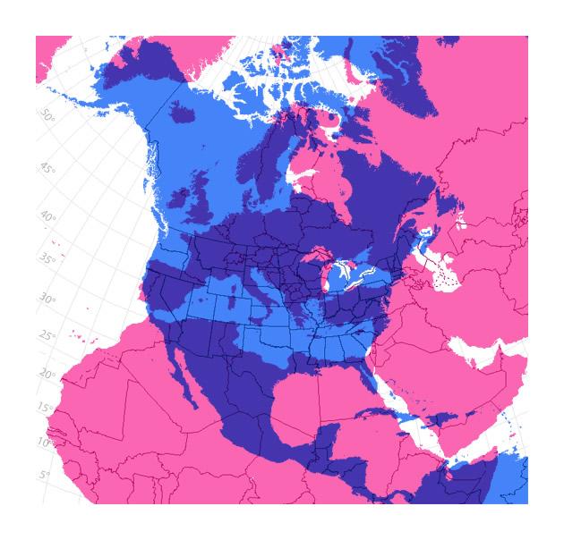 """Comparazione tra l'area degli USA con quella dell'Europa (su richiesta della mamma di Bill, che gli ha scritto: """"Hai per caso da qualche parte una mappa che mostra le dimensioni relative degli Stati Uniti e dell'Europa? Grazie, baci, Mamma"""")"""