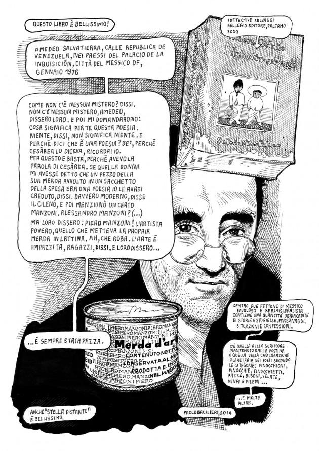 """""""I detective selvaggi"""" di Roberto Bolaño, raccontato da Paolo Bacilieri"""