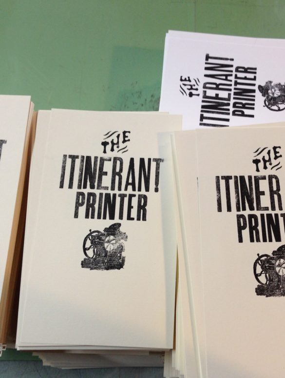 the itinerant printer 1