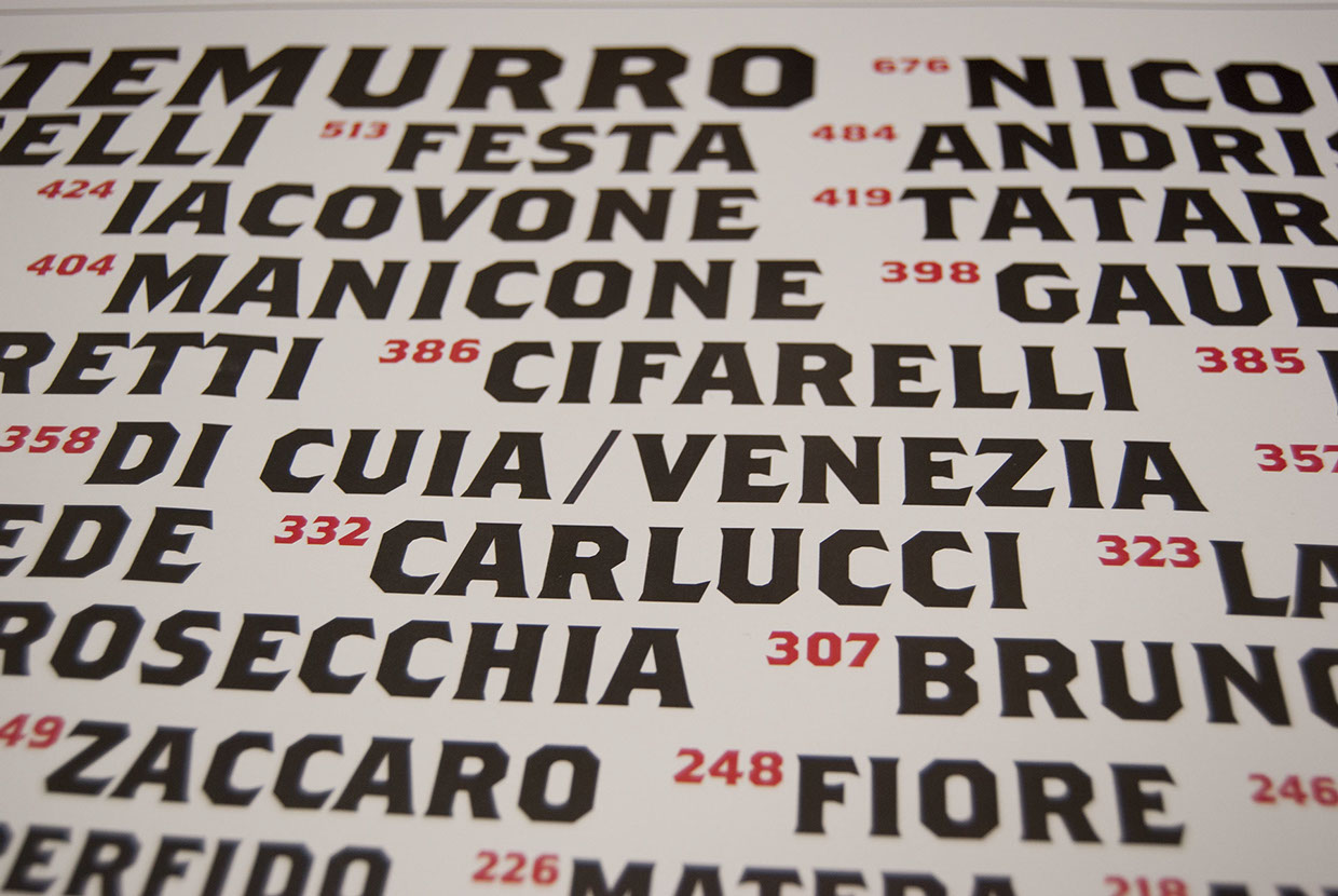 The surnames of Matera 3