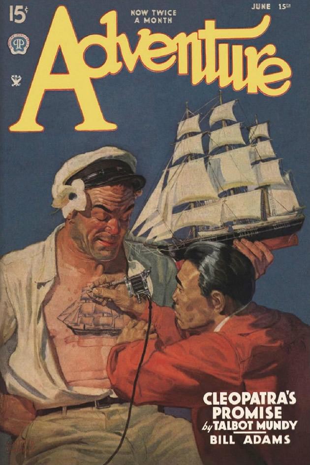 """copertina di """"Adventure"""", giugno 1935"""