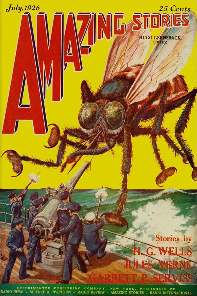 """copertina di """"Amazing Stories"""", luglio 1926"""