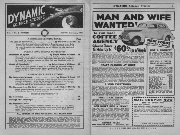 "pagine interne di ""Dynamic Science Stories"", febbraio 1939"