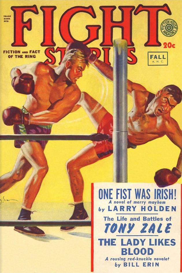 """copertina di """"Fight Stories"""", agosto-ottobre 1949"""