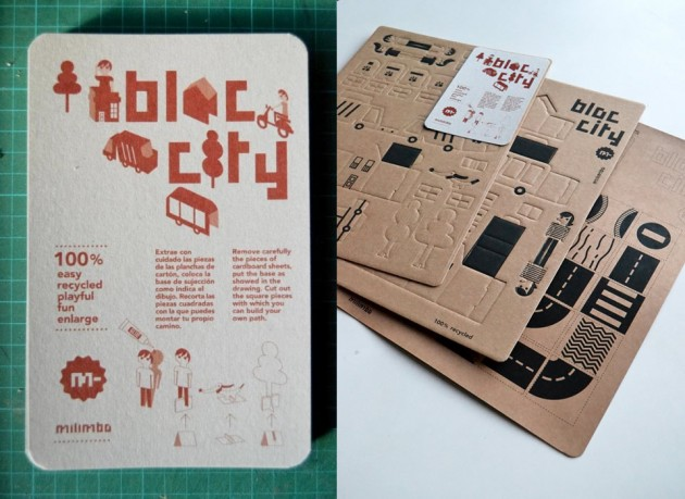 Bloc city — un'intera città da costruire, fatta interamente in cartone